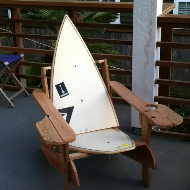 Diy Surfboard Adirondack Chair Like Living