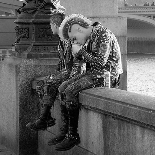 Punks, London. Tourists' reactions were so funny when they saw a punk for the…
