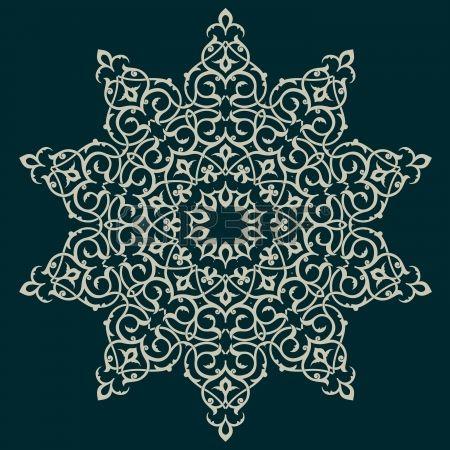 Geleneksel Farsça-Arapça-Türkçe-İslam Desen Vektör Stok Fotoğraf