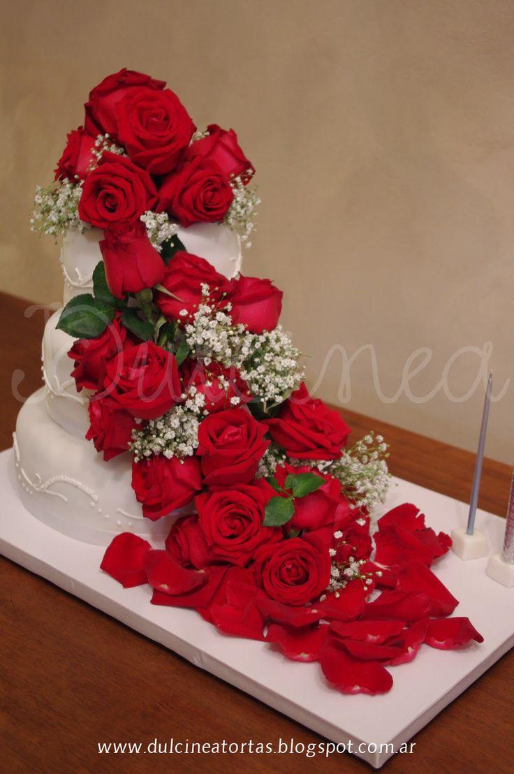 Torta con flores naturales tortas decoradas pinterest - Decoracion de jarrones con flores artificiales ...