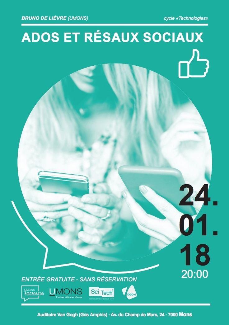 Ados et réseaux sociaux : être connectés pour accéder aux métiers de demain - Conférence 24 janvier 2018 - 20h - Entrée gratuite | SciTech² http://sco.lt/...