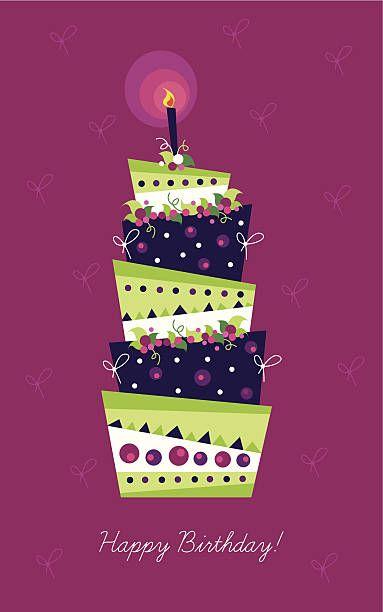 バースデーカード 美しいケーキ ベクターアートイラスト 誕生日 カード イラスト ハッピーバースデー イラスト 誕生日 カード デザイン