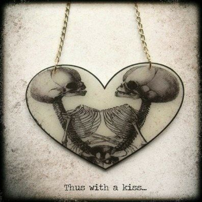 Thus With A Kiss... Necklace