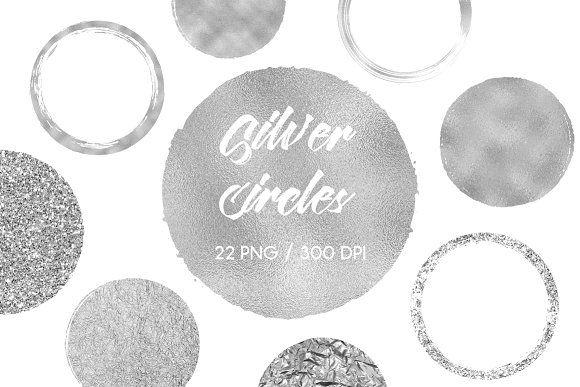 Silver Circles Clip Art Clip Art Circle Clipart Scrapbook Materials