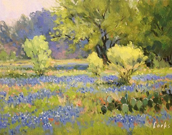 spring motif painting landscape - photo #30