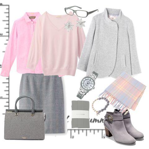 通勤コーデ#パステルカラー #ピンクニット#タイトスカート…|iQON