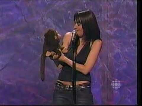 Ventriloquism genius Nina Conti. Hilarious but slightly freaky how well she reacts as if it's the first time she has heard what the monkey is saying, you could almost see her being a nutter that believes the monkey is real :)