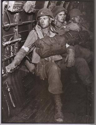Paratroopers before their drop on D-Day.