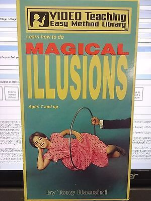 Video Teaching Magical Illusions Tony Hassini VHS Video Tape Collectibles:Fantasy, Mythical & Magic:Magic:Tricks www.webrummage.com $9.99