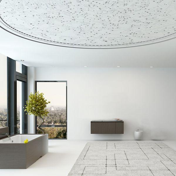 天体図を見上げるような星座の壁紙 リフォーム 壁紙 おしゃれな壁紙 家