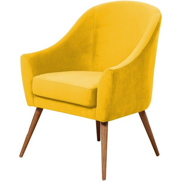 HAWKE & THORN HERMAN ARMCHAIR- MUSTARD ($715) ❤ liked on Polyvore featuring  home. Yellow Accent ChairsYellow ... - Top 25+ Best Yellow Accent Chairs Ideas On Pinterest Yellow Seat