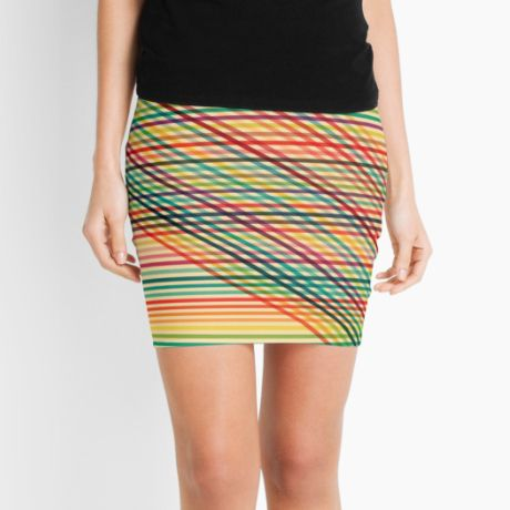 Ovrlap Pencil Skirt  #fimbis #redbubble #pinstripes #lines #skirt #style #styleblog #fashion #fashionblogger #fashionblog #styleblogger #red #designer #pencilskirt #patterns #abstract #geometric #magenta #green #orange #fblogger #purple #yellow