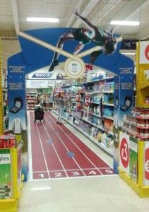 Cycle 16 2012 Full Length Graphics P AND G 4 211x300 P&G Aisle Arch and Full Length Floor Graphics