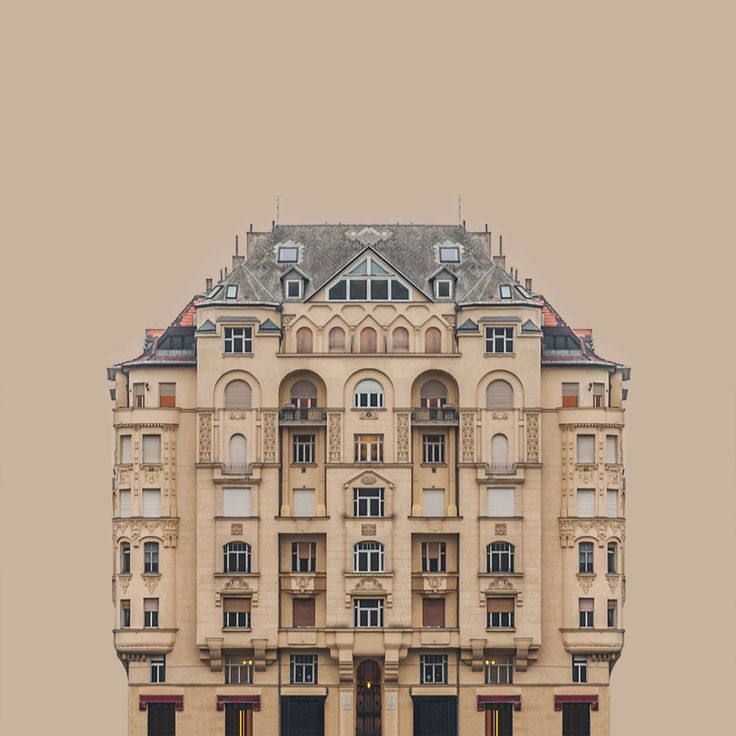 Grand Budapest: Marvel at the Perfect Symmetry of Zsolt Hlinka's Architectural Portraits