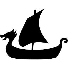 Viking Ship Silhouette