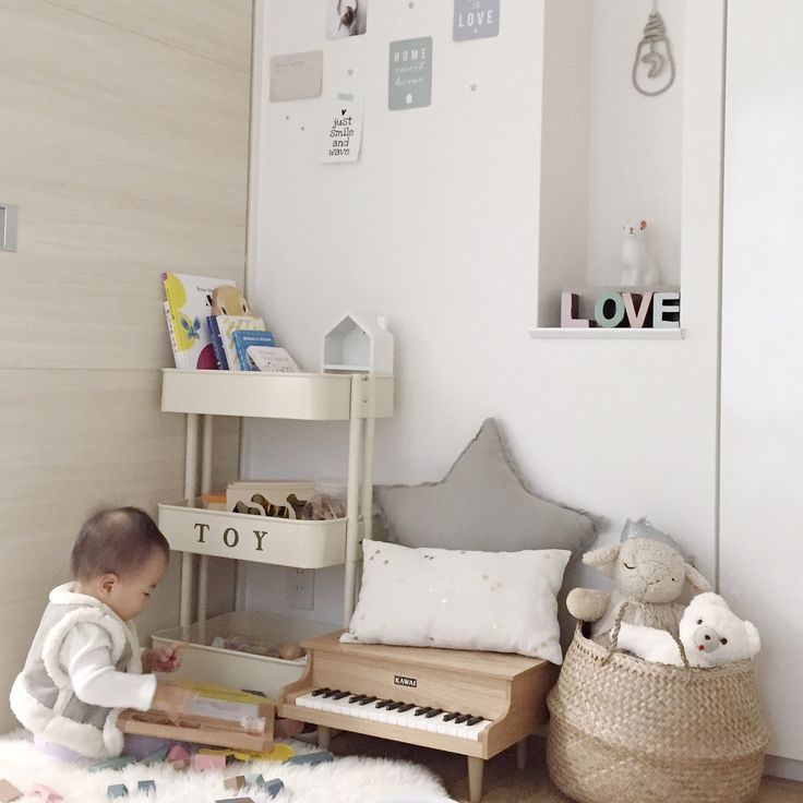 子供部屋の一角、娘スペース。IGと同じpic!/本棚/キッズルーム/子供部屋/IKEAワゴン/IKEA…などのインテリア実例 - 2015-11-12 09:49:00 | RoomClip(ルームクリップ)