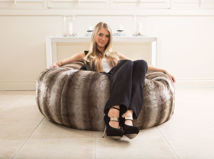 Our Luxurious Furry Designer Bean Bag, The Cappuccino Is A Comfortable Chair  Suitable For Kids