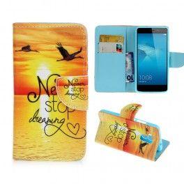 Huawei Honor 7 Lite auringonlasku puhelinlompakko.