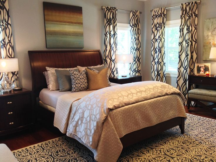Innovative West Elm Curtains Mode Tampa Traditional Bedroom Image Ideas  With Bold Patterns Dark Wood Bedroom