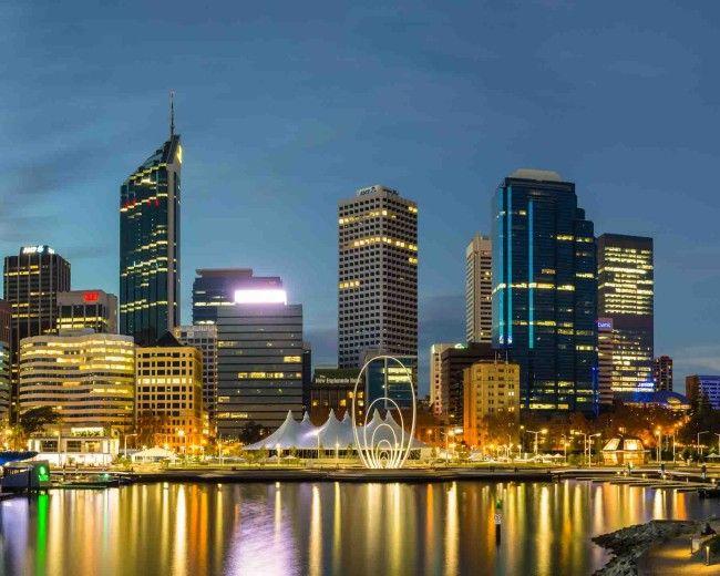 Perth Skyline from Elizabeth Quay, Perth, Western Australia