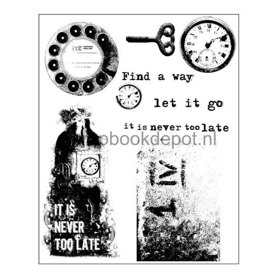 Finnabair Cling Stamp Set - Never Too Late