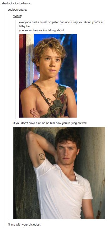 Mmmm, Peter Pan... I always did think he was cute!