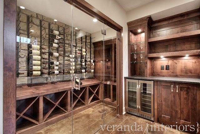 Watermark {Spyglass}  Wet bar & wine room // Veranda Estate Homes & Interiors
