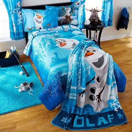 Disney Frozen Olaf Build A Snowman TwinFull Bedding Comforter * For more information, visit image link.