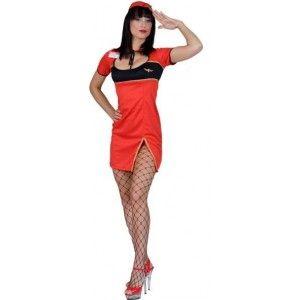 Costume hôtesse de l'air rouge sexy femme, déguisement hôtesse de l'ai adulte. http://www.baiskadreams.com/1531-deguisement-hotesse-de-l-air-rouge-sexy-femme.html