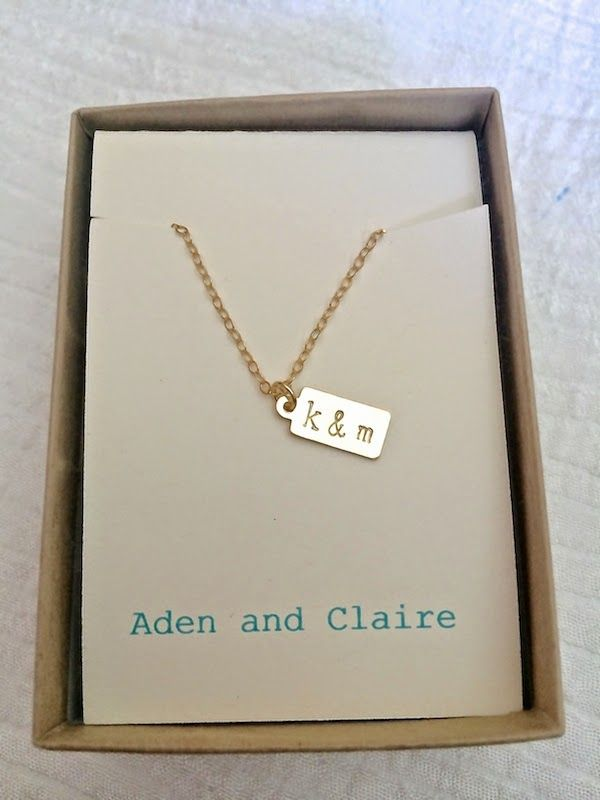 Gold Tag Initial Necklace Giveaway