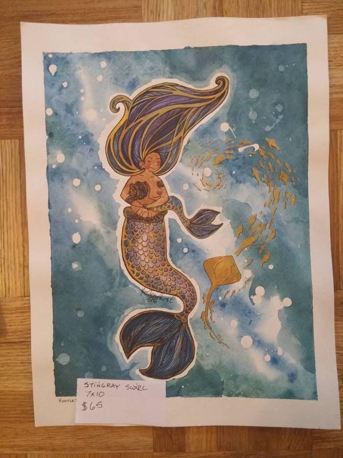 Breastfeeding Mermama rootletootle illustrationg ottawa artist #mermaid #merman#merfolk #mermama #merdad #merbabies#snailbaby #neurodiversity #disability#blacklivesmatter #muslim #goodpeople #loveislove#lgbtq #veterans #rootletootle #autisticartist