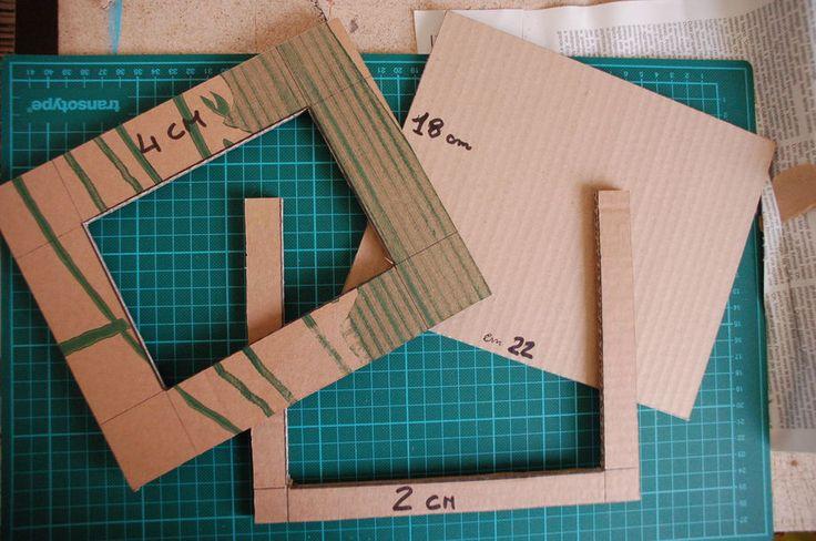 Cornice fai da te con il cartone riciclato, il tutorial | Tutorial 8 | FOTO