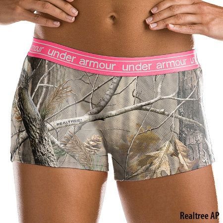 Under Armour Womens UA Camo Mesh Boy Short - Gander Mountain. I GOTTA Get a pair of these. They even have bras too