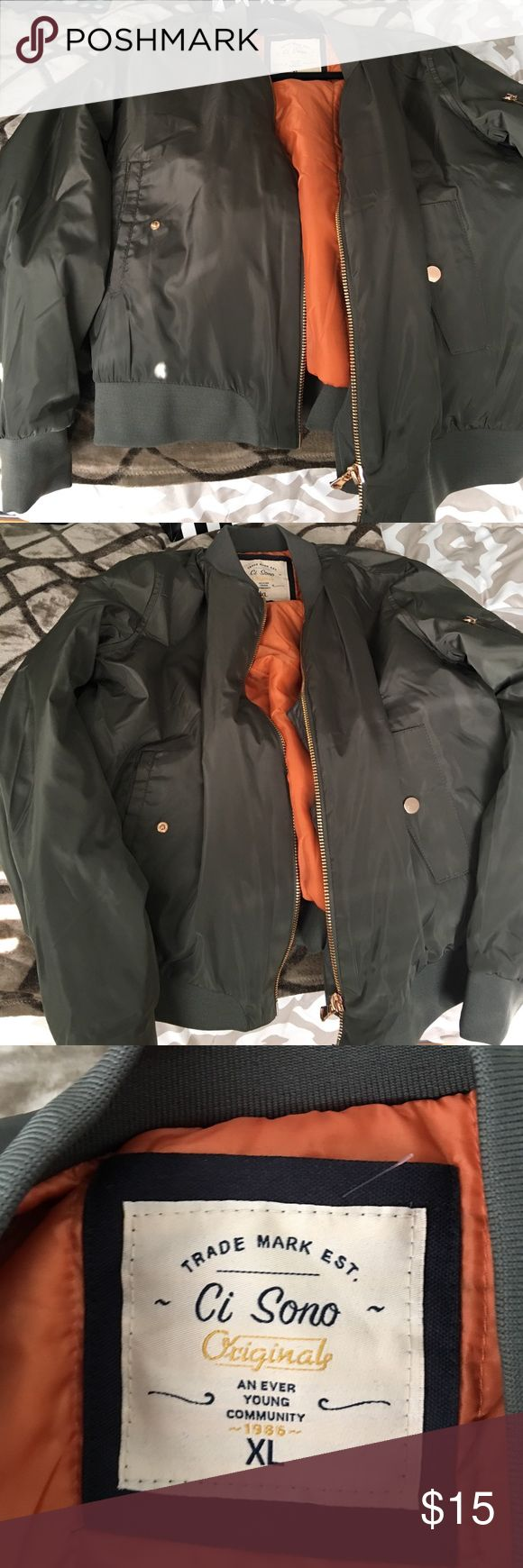 Olive green jacket Olive green jacket in a size XL Jackets & Coats