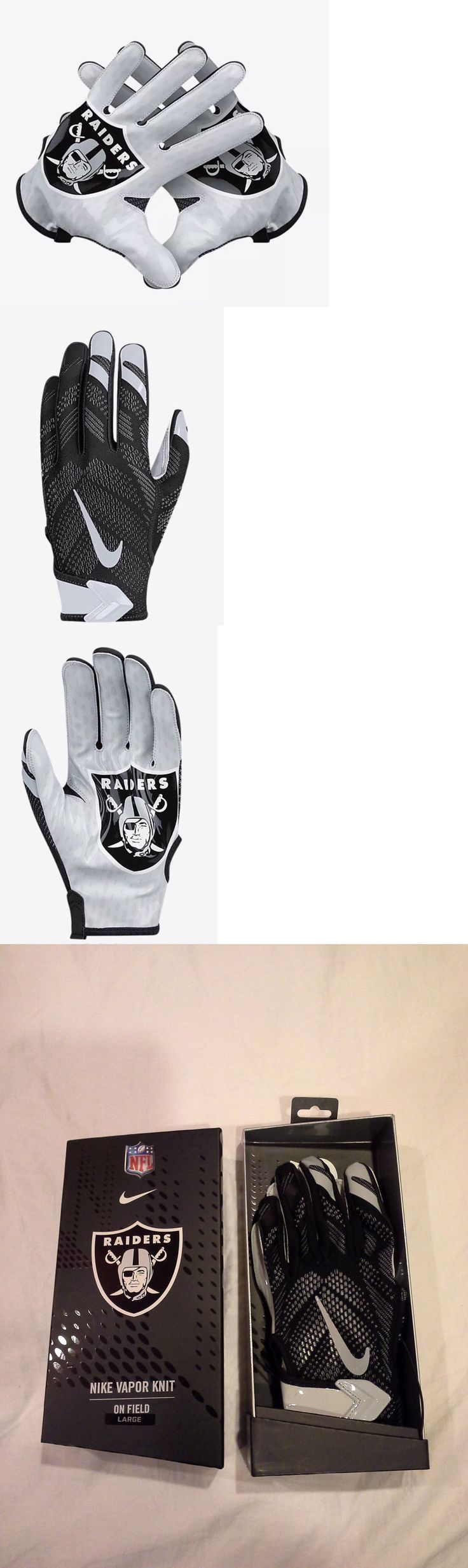 Gloves 159114: Nike Vapor Knit Nfl Oakland Raiders On Field Hyperfuse Skill Gloves Size M L Nwt -> BUY IT NOW ONLY: $69.99 on eBay!