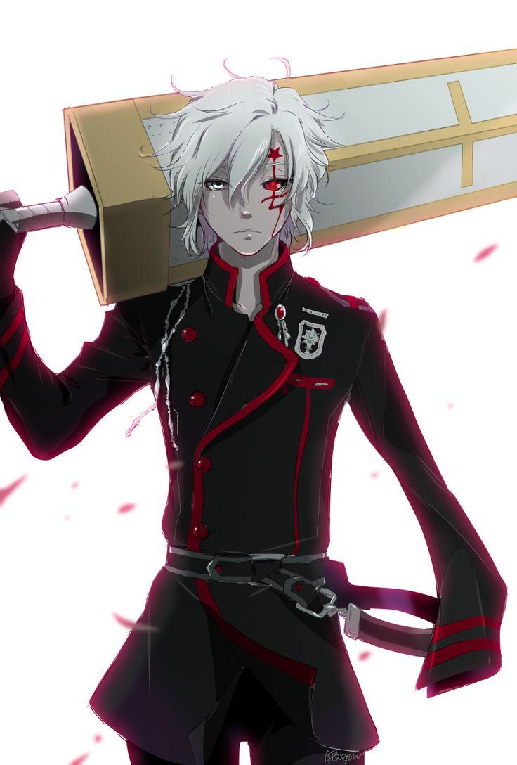Anime heterochromia / odd eyes white red (allen walker D.Gray-man)