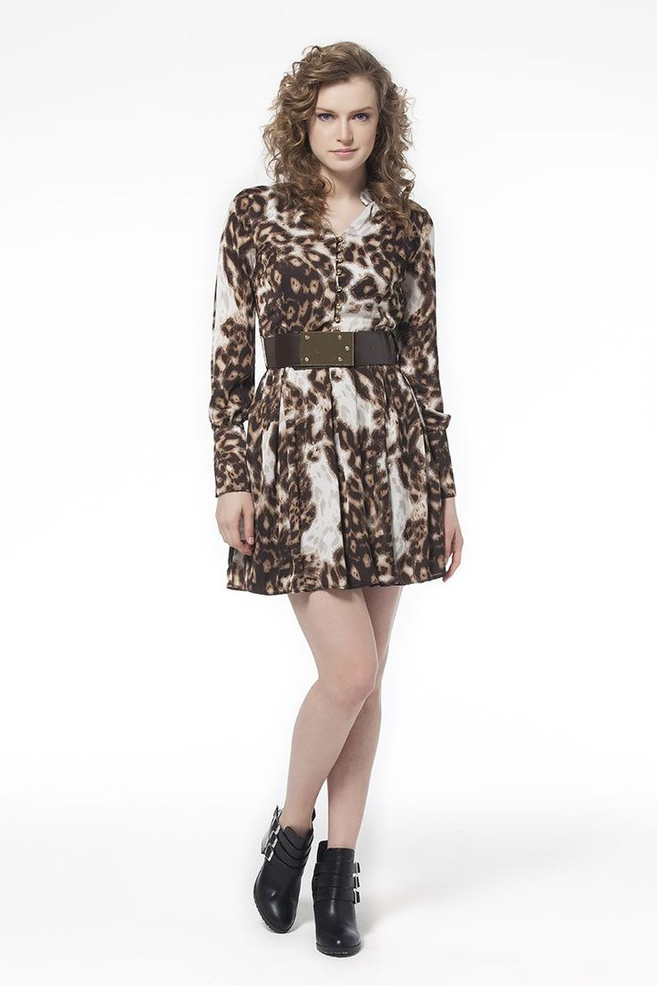 Leopar Desenli Elbise Leopar Desenli Elbise Elbise En Trend Elbiseler 89,90 TL