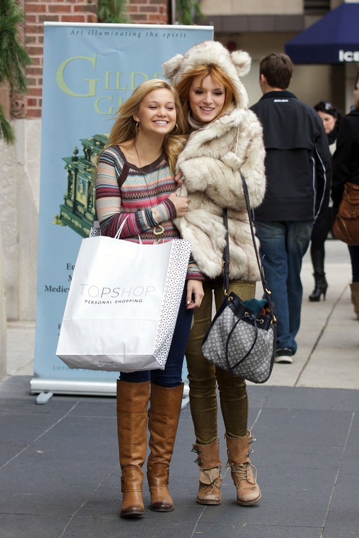 Bella Thorne and Olivia Holt - Shopping Candids in Chicago