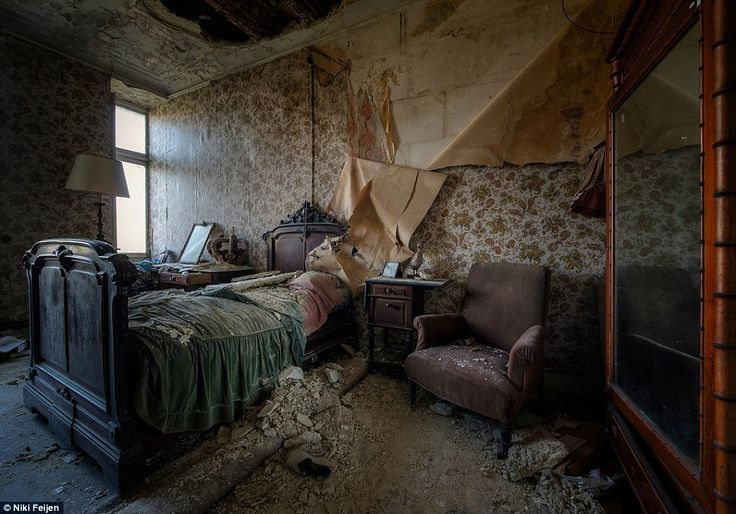 Exploring decay: Dutch photographer Niki Feijen has traversed the world looking for crumbling beauty lurking beneath a thick layer of dust i...