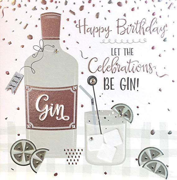 Handmade Birthday Card Gin Happy Birthday Let The Celebrations Be Gin This Beautiful Mint Themed Birth Birthday Cards Handmade Birthday Cards Birthday