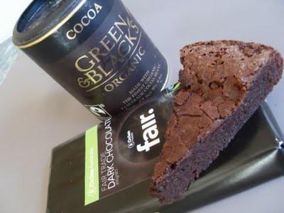 Fairtrade Chocolate cake using Green & Blacks Fairtrade dark chocolate and cocoa