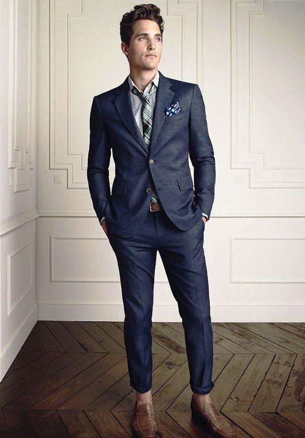 The 25  best Blue suit brown shoes ideas on Pinterest | Man suit ...