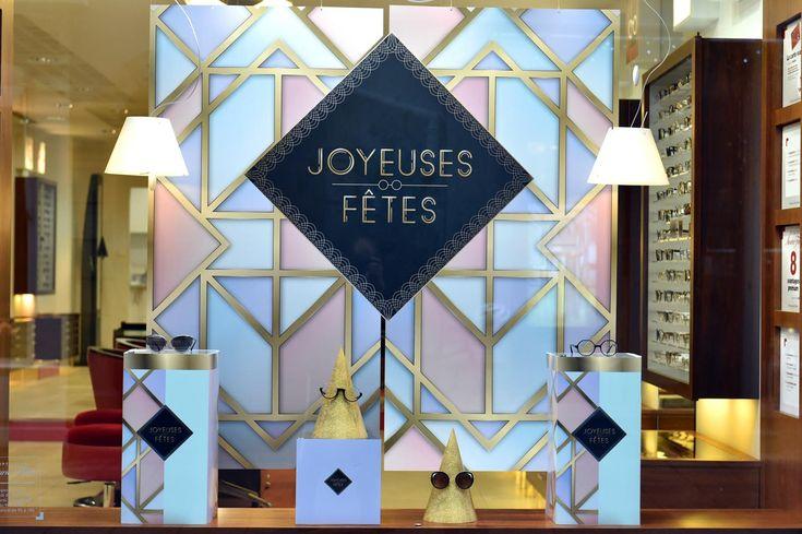 Programme de Théâtralisation vitrines mensuel pour opticiens indépendants (Agence 100% pour LUZ optique) #vitrines #windows #opticiens #opticien #optique #optic #communication #design #Noël