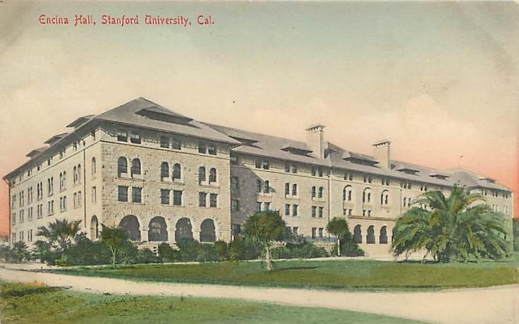 Stanford University California Encina Hall Handcolored ...