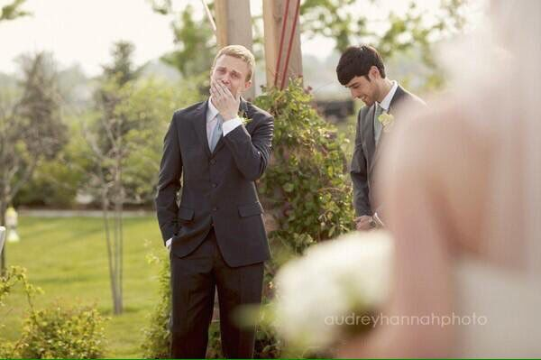 Make sure to get photo of groom reaction to bride. Love!!!