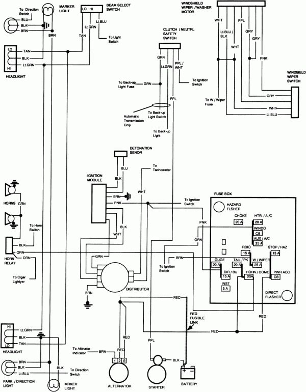 15+ 81 87 Chevy Truck Fuel Tank Wiring Diagram,Truck