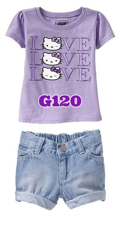 Hello Kitty love purple pants (G120) || size 2-7 || IDR 127.000