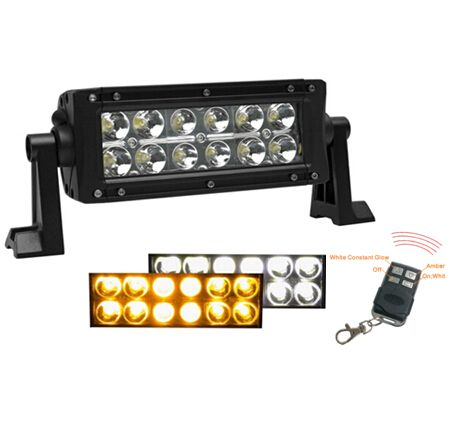 Amber led light bar 25 pinterest wireless remote control 75inch 36w strobe amberwhite dual row led light bar mozeypictures Choice Image