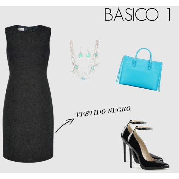 BASICO VESTIDO NEGRO by marisol-fernandez-zumba on Polyvore featuring polyvore fashion style Hobbs Balenciaga Talbots