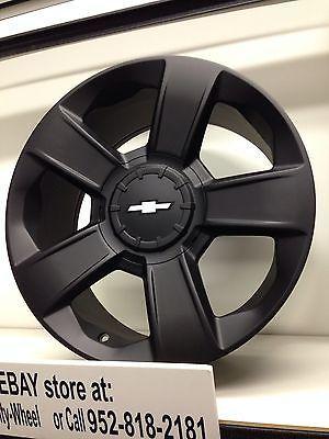 2014 Chevy Tahoe For Sale >> 2014 2015 black 20 inch Chevrolet Silverado OE GM replica wheels SS Tahoe LTZ | Chevrolet ...